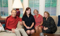 Terri Farr and members of her family, who have invented a new gift giving tradition