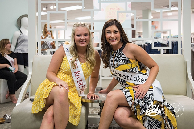 Claire Mattson and Allyson Helms at Miss Minnesota 2019