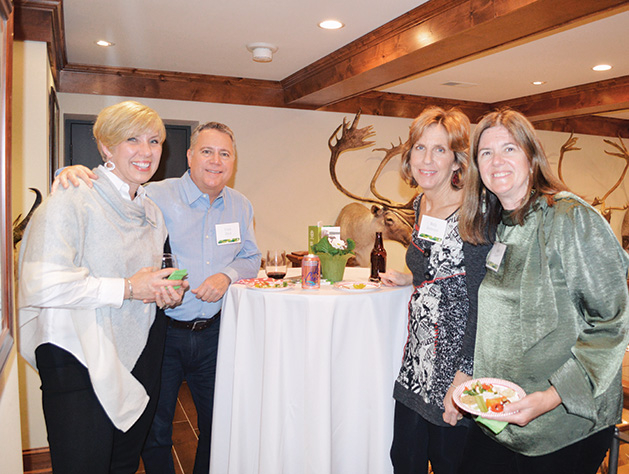 Leslie Cadle, Frank Stec, Molly Anderson and Jane Steck at the TreeHouse fundraiser