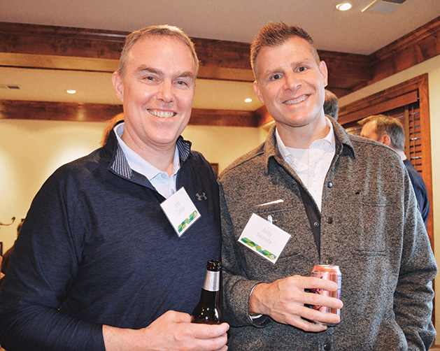 Eric Lohse and Andy Swanda at the TreeHouse fundraiser.