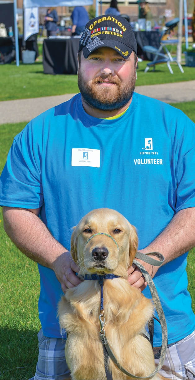 Carl Ringberg with service dog Jed