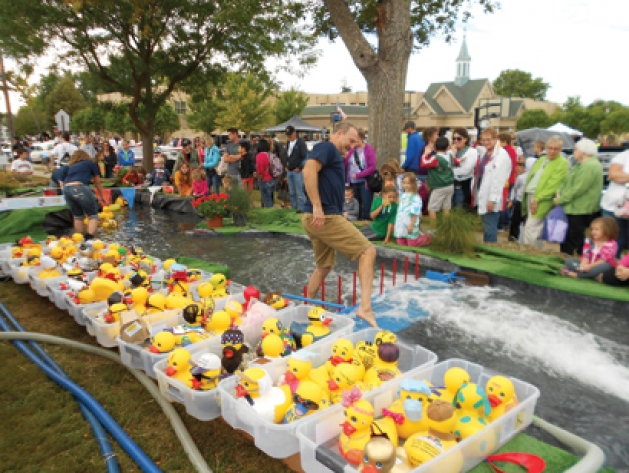 Duck Races at Nickle Dickle Day