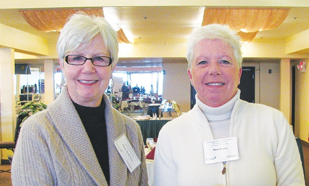 Helen Anderson and Pam Becker