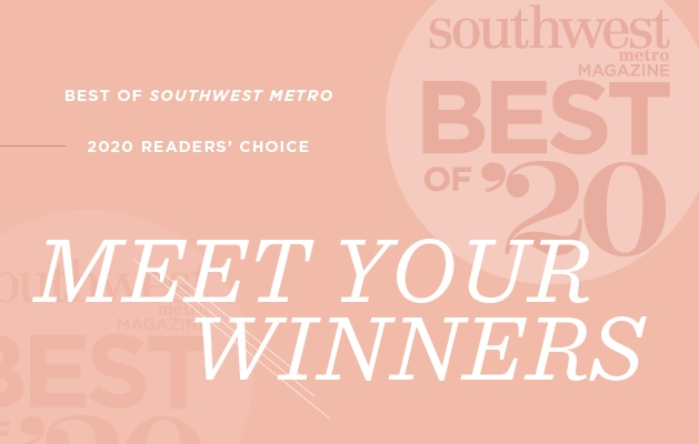 A graphic announcing the Southwest Metro Magazine Best of Southwest Metro 2020 winners.