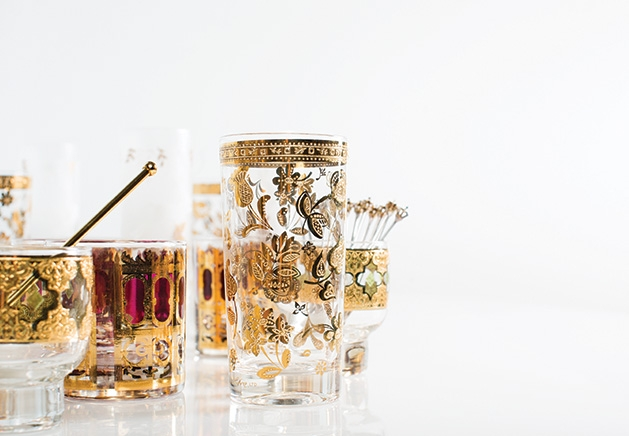Vintage cocktail glasses from Shop 501 & Company