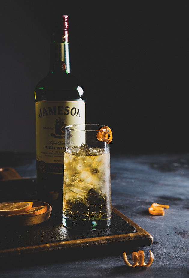 Jameson Irish whiskey, Jameson & ginger