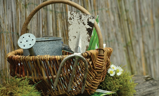 Materials for a gardening class at the Minnesota Landscape Arboretum