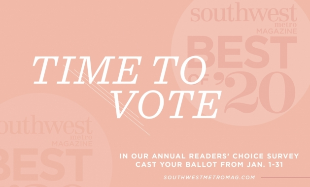 A graphic announcing the 2020 Best of Southwest Metro Magazine readers' choice survey