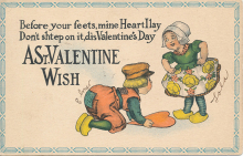 A Valentine's Day card sent in 1915.