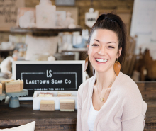 Bailey Dubbe, creator of Laketown Soap Co.