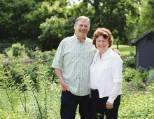 """Beyond Rosemary, Basil and Thyme"" author Theresa Mieseler and her husband. The two operate Shady Acres Herb Farm together."