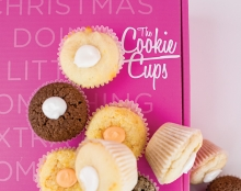 A variety of cookies baked in muffin tins from The Cookie Cups.