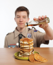 Boy Scout Troop 342 pancake breakfast