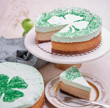 St. Patrick's Day cheesecake from Pretty Great Cheesecake