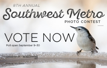 A graphic advertising voting for the 2019 Southwest Metro Photo Contest