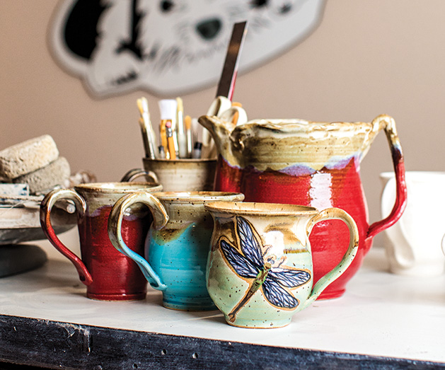 Handmade pottery from Oliver Clay Co.