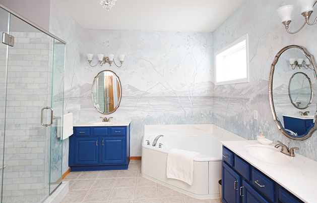 The full picture of the remodeled bathroom in Victoria.